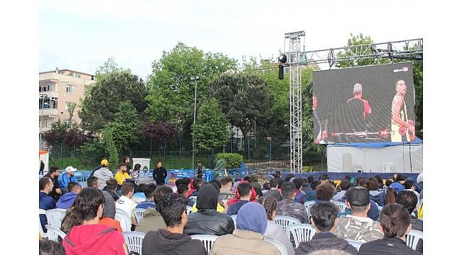 Sultangazi'de dev ekranda Final Four heyecanı
