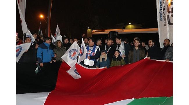 Ankara'da STK ve vatandaşlardan ABD Başkanı'na tepki
