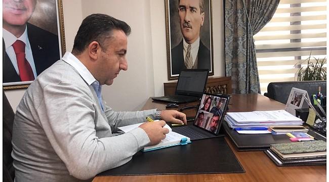 Osmangazi'de video konferanslı korona virüs toplantısı